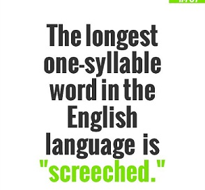 screeched word fact hindi