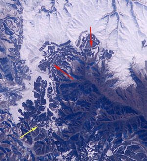 china wall from space in hindi