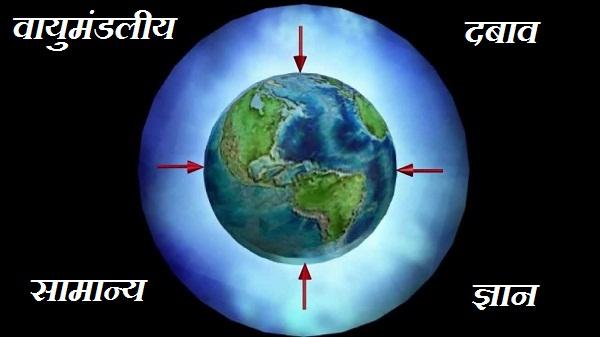atmospheric pressure in hindi