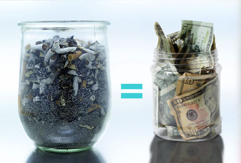 cigarette quit save money
