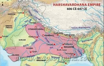 Harsha Empire History Gk in Hindi