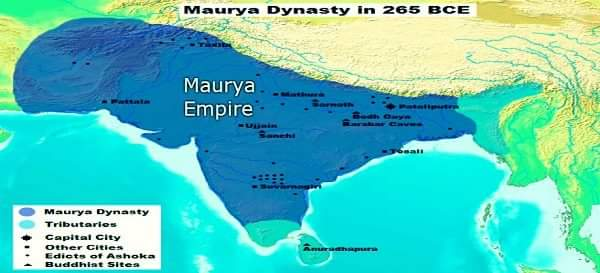 Maurya Empire in afghanistan