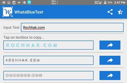 blue text in whatsapp
