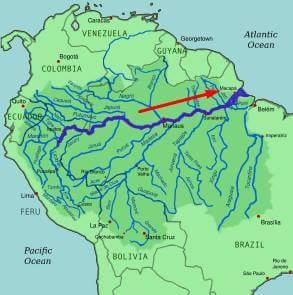 Amazon River Route in Hindi