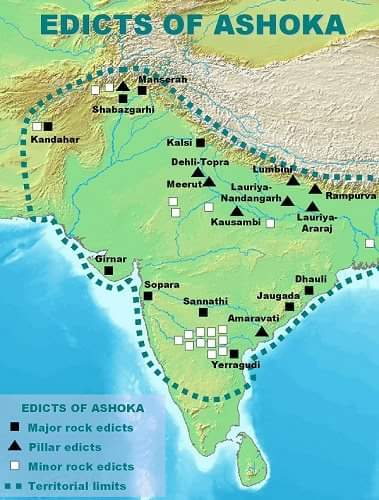 Distribution of the Edicts of Ashoka