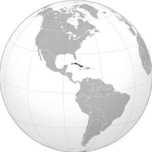 Cuba Country Map in Hindi