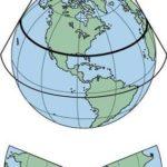 Map Projection या मानचित्र प्रक्षेप क्या होता है?