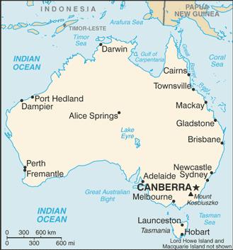 Australian Cities in Hindi